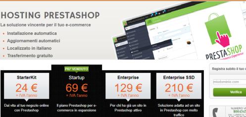 Pacchetti hosting Prestashop Serverplan